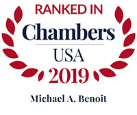 Chambers ranking recognition for Michael A. Benoit