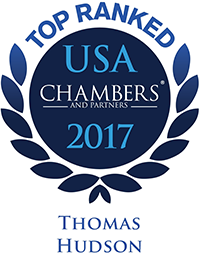 Chambers ranking recognition for Thomas B. Hudson