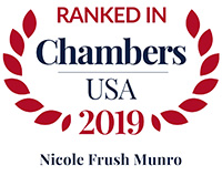 Chambers ranking recognition for Nicole F. Munro